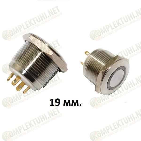 Кнопка металлическая (FLM19SS-FJ-E-11-19) 19 мм.